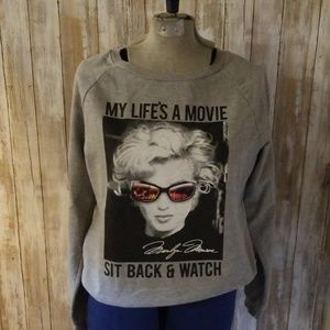 Marilyn Monroe sweatshirt  size large 11-13